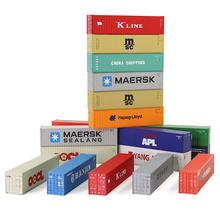 10pcs 40ft Containers Shipping 1:150 Container Freight Car N Scale Model Trains lot C15008