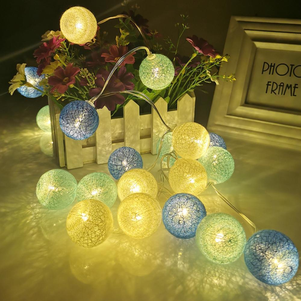 garland luzes de led bola algodao 04