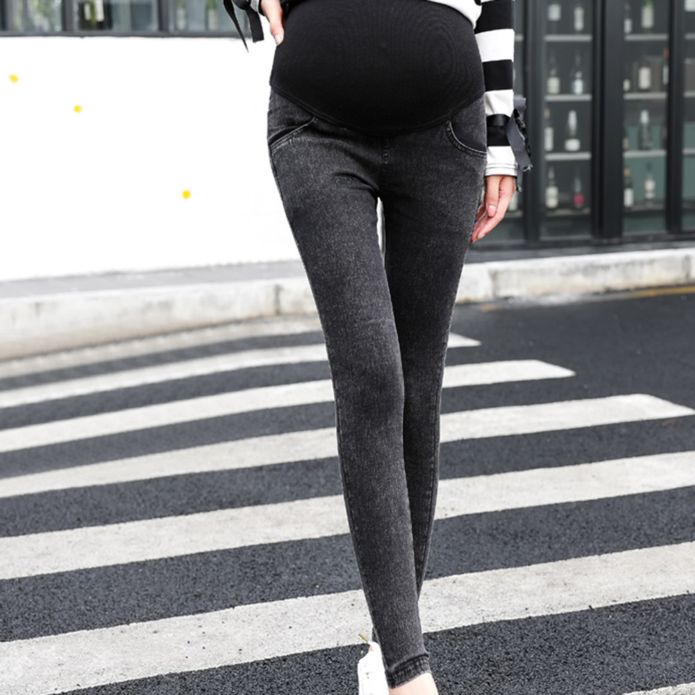 #5 Maternity jeans Maternity Pregnancy Skinny Trousers Jeans Over The Pants Elastic ropa maternal maternity clothes embarazo