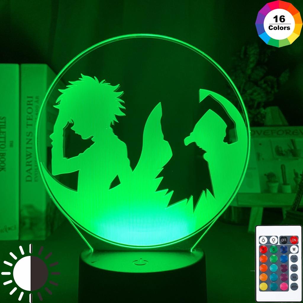 Child Bedroom Decor Desk Lamp Hunter X Hunter Gon Freecss And Killua Zoldyck 3D Illusion Led Night Light Kids Anime Gift