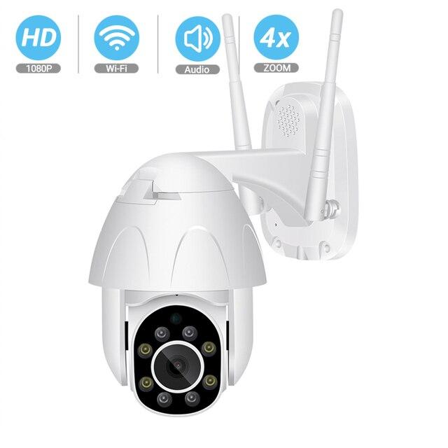 BESDER 1080 P PTZ двухсторонняя аудио WiFi камера 4X цифровой зум ИК ночного видения автоматическое отслеживание Водонепроницаемая ip камера видеонаблюдения