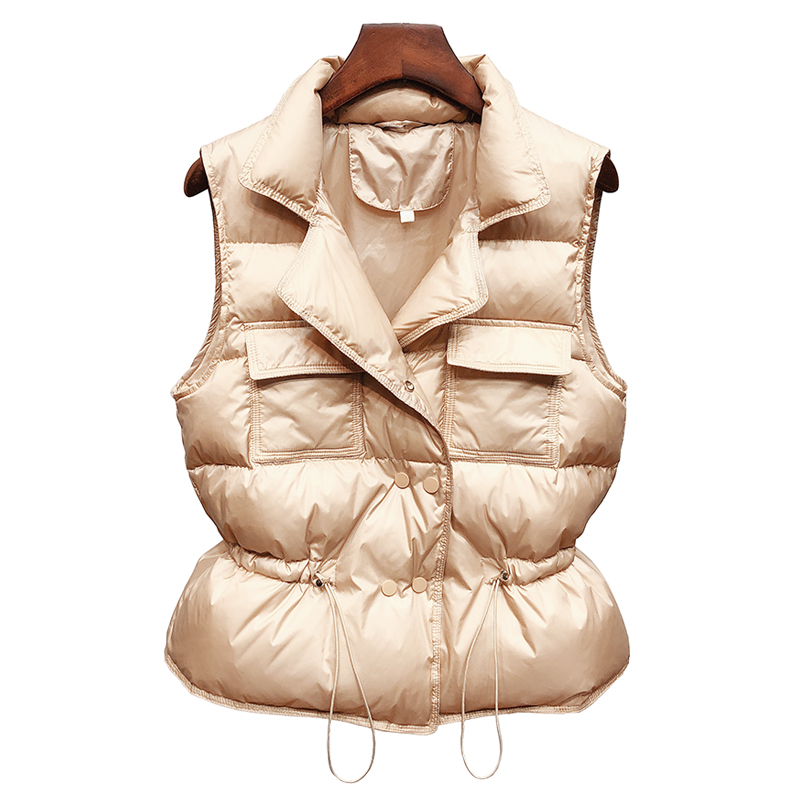2020 New Ultra Light Down Vest Women Short Vest gilet caldo leggero antivento donna piumino d'anatra bianco senza maniche 6