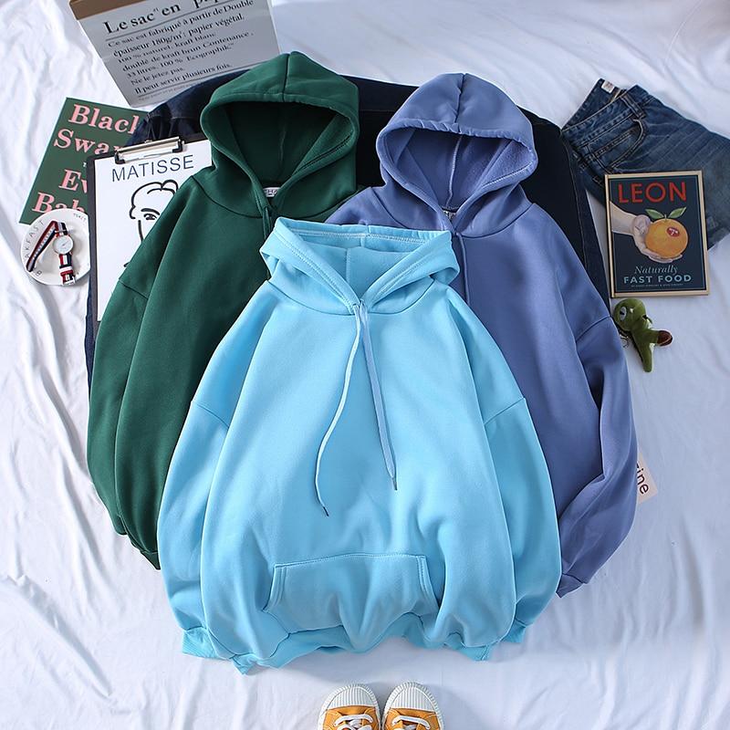 Autumn New Plus Hoodies Men Fashion Solid Color Casual Hooded Sweatshirt Mens Streetwear Wild Hip Hop Hoodie Men's Hoody M-3XL