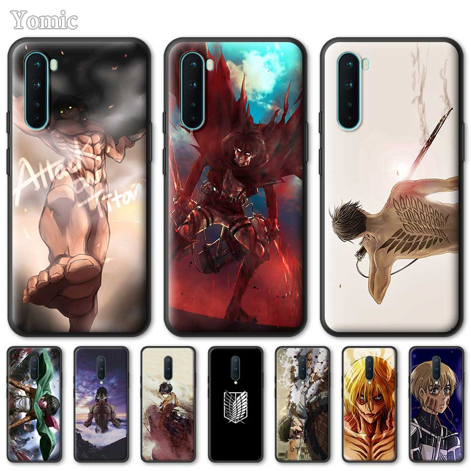 Silicone Phone Case For OnePlus Z 8 Nord 6T 6 7 7T Pro 5G Black Soft Coque Attack On Titan Anime TPU Cover Shell