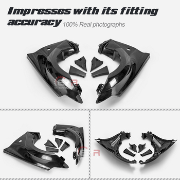 VRS Style Fiberglass Front Fender With Front Bumper Extension FRP Fiber Glass Wheel Arch Cover For Nissan 2009 On 370Z Z34