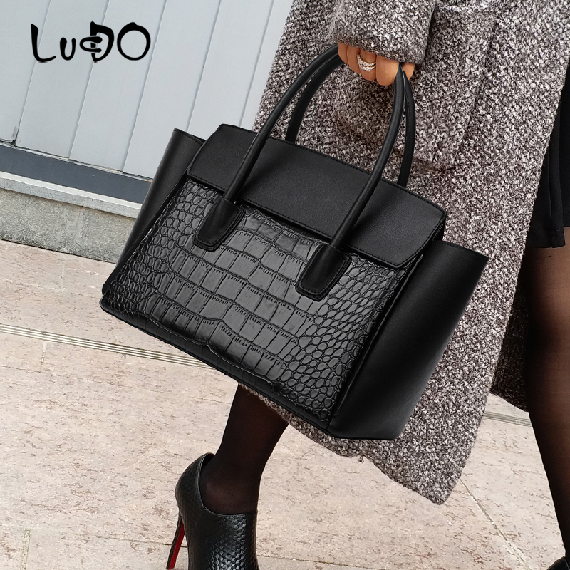 LUCDO 2020 NEW Designer Luxury Handbags Fashion Crocodile Pattern Women Bags Famous Brands Shoulder Messenger Crossbody Bag