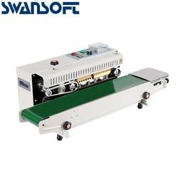 SWANSOFT continous sealing machine conveyor platform band sealer machine Aluminum Foil Plastic Bag Film Continuous Packaging Mac
