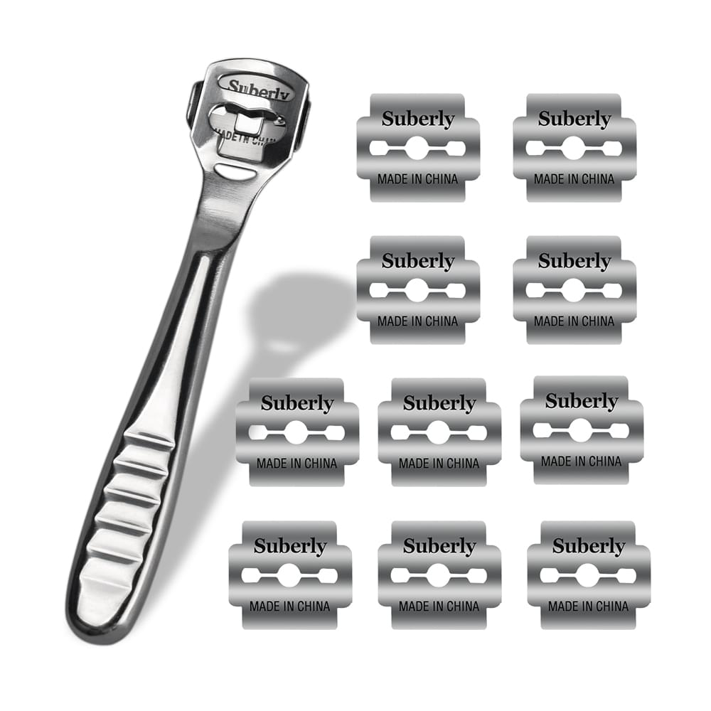 Hand Foot File Care Corn Cuticle Remover Shaver Blade Smooth Feet Pedicure Callus Skin Remover Care Tool 10Pcs Shaving Blades