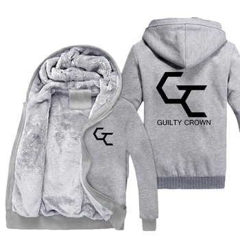 Guilty Crown cosplay Thicken Hoodie cotton zipper Jacket Coat winter Anime Fashion Hooded For Men Women