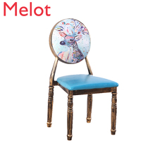 Beautiful Nail Stool Backrest Iron Art Makeup Originality Tea With Milk Restaurant Table Chairs Kitchen Table Chair