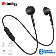 S6 Sport In-Ear Neckband S6 Wireless Headphone Bluetooth Earphone Dengan Mic Stereo Earbud Headset Untuk iPhone Xiaomi Huawei(China)