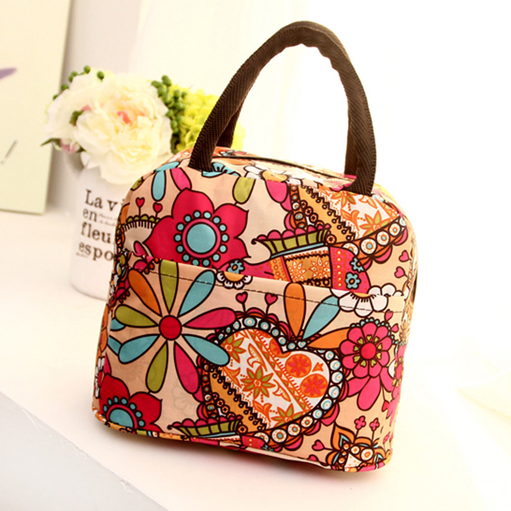 Portable Lunch Bag Thermal Insulated Totes Student Picnic Lunch Food Bag Waterproof Handbag Pouch Fashion Women Bag Lancheira