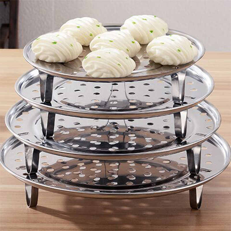 Stainless Steel Steamer Stackable Dinner Mengepul Rak Penebalan Air Steamer Rumah Tangga Mengukus Grid Dapur Alat