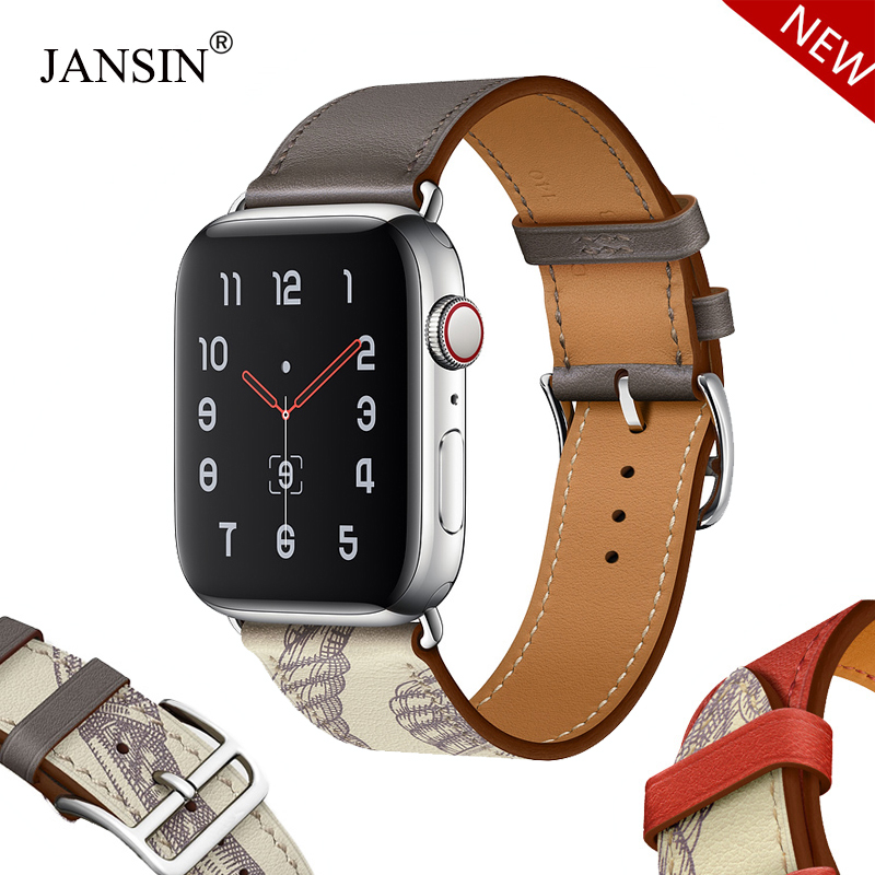 New Leather Loop Bracelet Band For Apple Watch Series 5 4 44mm 40mm Bracelet Watch Band Strap For Iwatch 42mm 38mm Series 1 2 3