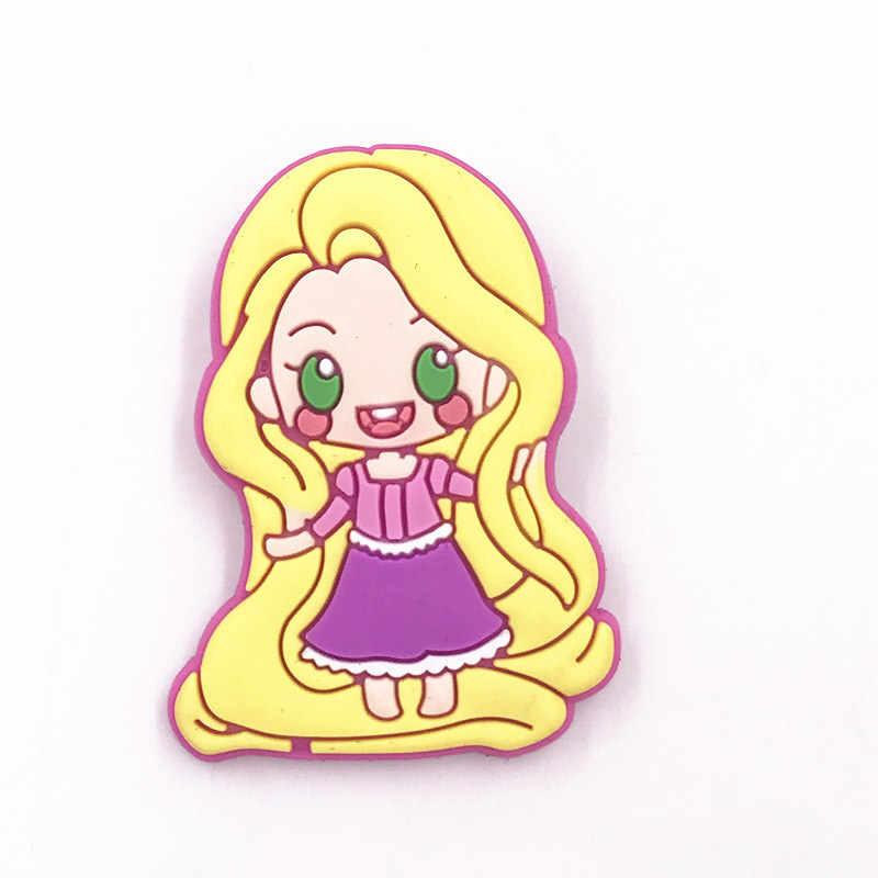 1Pcs Principessa Biancaneve Ariel PVC Distintivo Spilli su Zaino Borse Vestiti Scarpe Del Fumetto Spille Delle donne delle Ragazze accessori Regalo