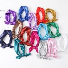 2021 nova moda lenço quadrado de seda para as mulheres 60cm cetim pescoço cabelo gravata banda saco urdidura macio neckerchief hijabs cabeça fêmea foulard