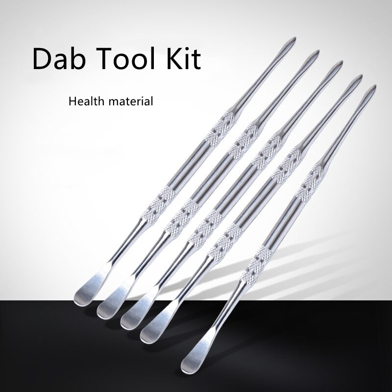 Metal carving Dab Tool Kit Wax Dabber Spoon Cleaning Tool for dab oil rig glass bong 1