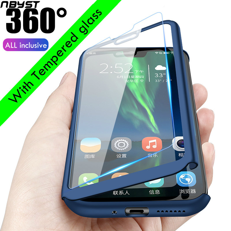 360 Degree Full <font><b>Cover</b></font> Protect <font><b>Case</b></font> <font><b>For</b></font> <font><b>Huawei</b></font> Y5 <font><b>Y6</b></font> Y7 P8 <font><b>prime</b></font> <font><b>2018</b></font> 2019 P9 P10 P20 P30 lite plus pro 2016 2017 mate 10 glass image