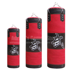 60/80/100/120cm Engrosado Lona Kick Boxing Saco de Boxeo Bolsa de Arena Entrenamiento Fitness Vacío Punching Bag Sandbag Muay Thai
