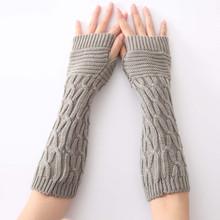 SAGACE długie rękawiczki bez palców czarne 2019 nadgarstek ramię zimowe długie rękawiczki bez palców cieplejsze dzianiny Mitten dla kobiet tanie tanio Dla dorosłych Unisex Poliester Stałe Moda long wrist gloves long fingerless gloves winter gloves women women knitted gloves