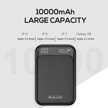 Jellico Power Bank 10000 мАч LED портативная батарея Power Bank PD Быстрая быстрая зарядка 12 В Powerbank для iPhone Xiaomi mi Power Bank