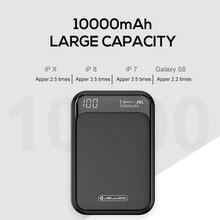 Jellico power bank 10000mah led portátil bateria banco de potência pd rápida carga 12v powerbank para iphone xiaomi mi