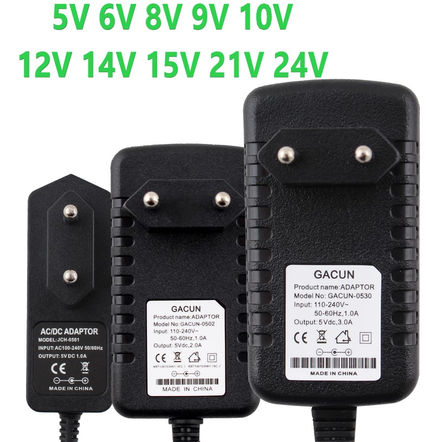 12V Supply Power Adapter DC 5V 6V 8V 9V 10V 14V 15V 21V <font><b>24V</b></font> Supply Power <font><b>Adaptor</b></font> 220V To 12V Charger Switching 1A 2A 3A Adapter image