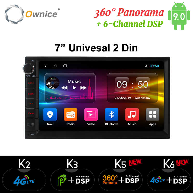 Ownice K1 K2 K3 Android 9.0 Octa Core 2 din Universeel Voor Nissan GPS Navi Radio Stereo Audio Player (geen DVD) build-in 4G Moudule