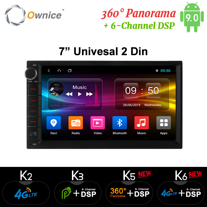 Ownice k1 k2 k3 android 9.0 octa núcleo 2 din universal para nissan gps navi rádio leitor de áudio estéreo (sem dvd) build-in 4g moudule