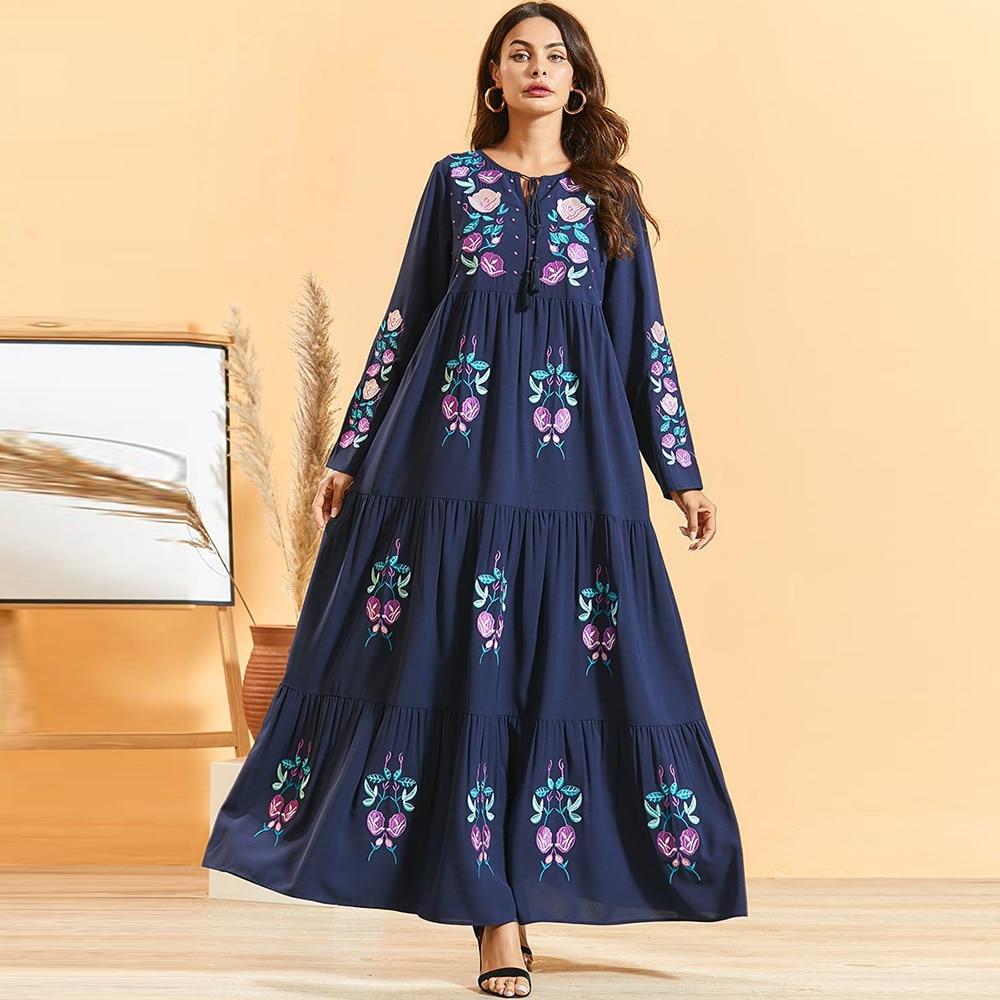 Abaya Dubai Turkey Dresses For Muslim Woman Fashion Hijab Dress Vestidos Femme Robe Musulman De Mode Longue Islam Clothing Oman
