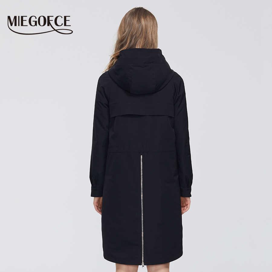 MIEGOFCE 2020 Neue Frühling Winddicht Designer Frauen Graben Warme Baumwolle Mantel Frühling Windjacke mit Beständig Kragen mit Stilvolle