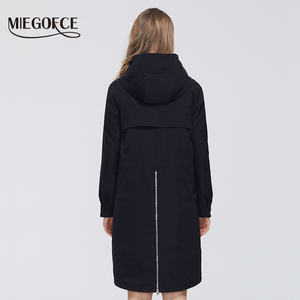 Image 4 - MIEGOFCE manteau coupe vent en coton pour femmes, Trench, de styliste, avec col résistant, Trench chaud, nouveauté 2020