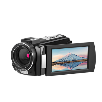 Andoer 4K WiFi Digital Video Camera Camcorder DV Recorder 30MP 16X Digital Zoom IR Night with 2pcs Batteries Microphone 2