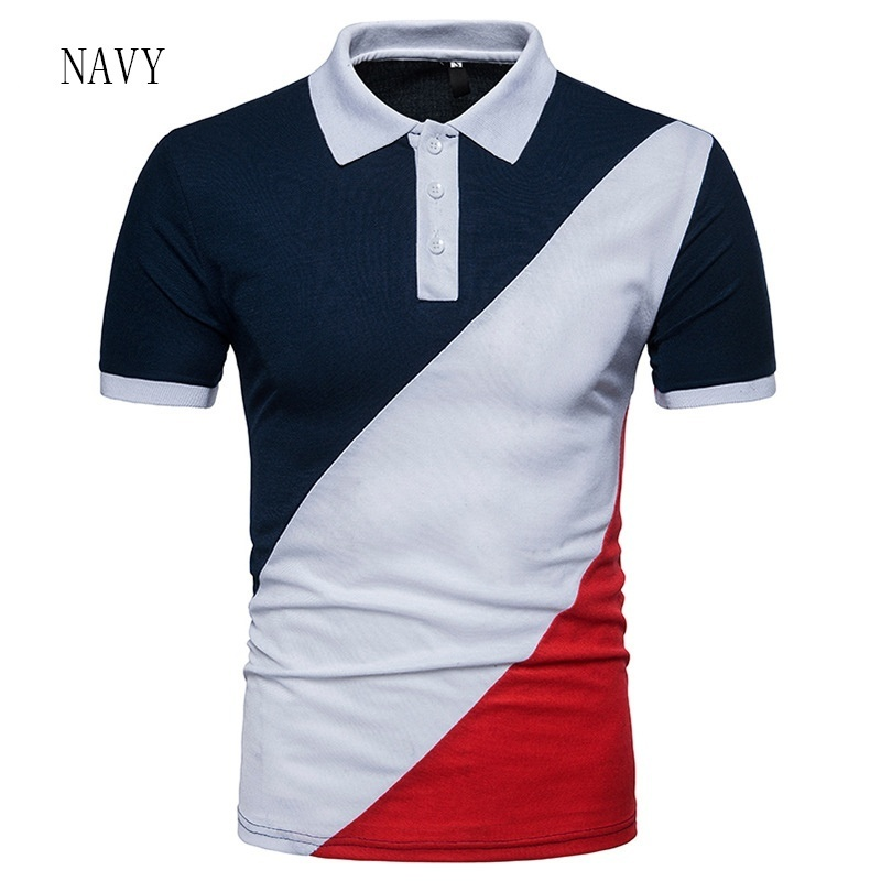 ZOGAA Summer Men Short Sleeve Polo Shirt Men Patchwork Casual Turn-down Collar Undershirt Slim Fit Men High Quality Polo Hombre