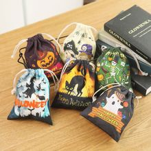 6 6 pcs Cute Witches Candy Bag 6 Different Style Funny Halloween Gift Bags Holiday