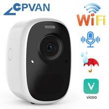 Cpvan ip камера для улицы помещений wifi 5200 мАч батарея ed
