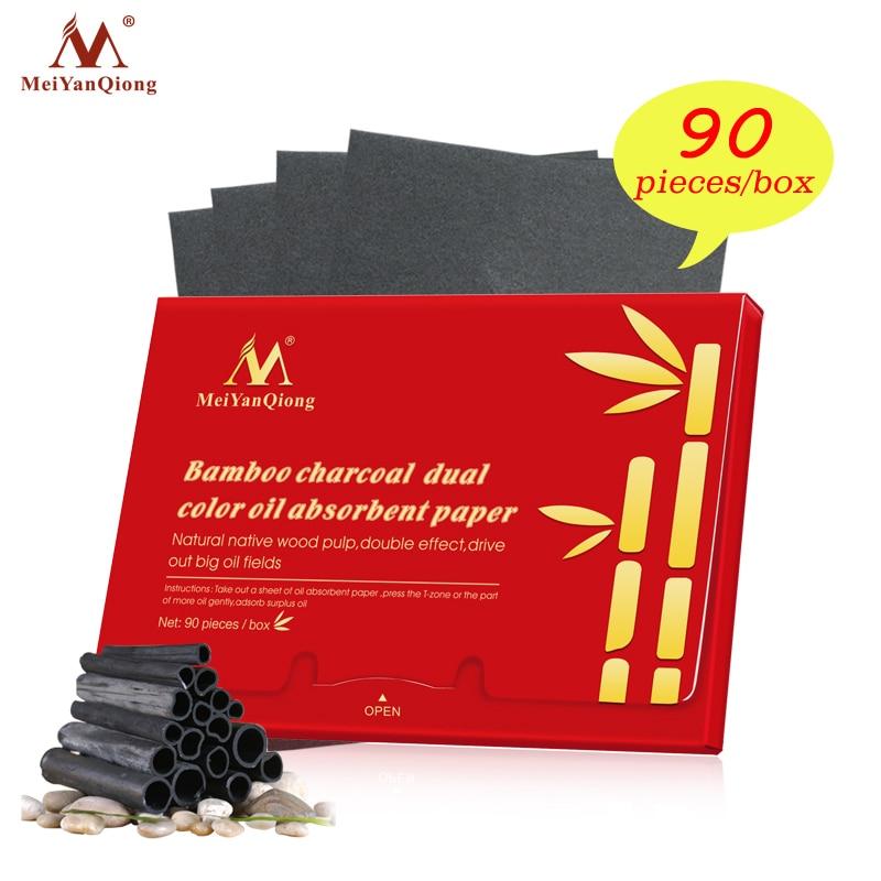 90 Pcs/box Face Tissue Paper Face Oil Absorbing Paper Plant Fibres Bamboo Blotting Paper