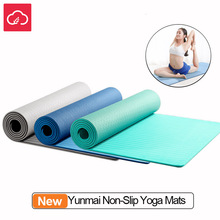 YUNMAI 6mm Double-sided Non Slip Yoga Mats Non-slip Damping Compression Soft TPE Mat Yoga Body Relax Massage Health Care cheap XIAOMI yunmai 6mm yoga mats Ready-to-Go Ride On 2 Channels