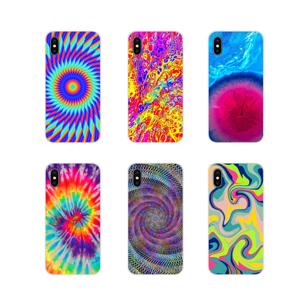 Abstract Rainbow Ripple Tie Dye art TPU Case Cover For Huawei Nova 2 3 2i 3i Y6 Y7 Y9 Prime Pro <font><b>GR3</b></font> GR5 <font><b>2017</b></font> 2018 2019 Y5II Y6II image