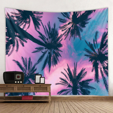 Hot selling explosion models coconut tree landscape printing background tapestry wall decoration cloth multiple sizes