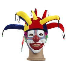 2019Festival Decoration Halloween Clown Hat Nose Props Adult Ball Cosplay Costume Fancy Dress For Celebration