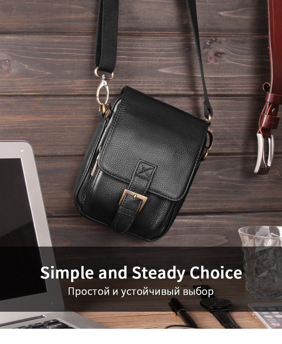 Men/'s Genuine Leather Cross Body Messenger Shoulder Bag Casual Small Hand Bags