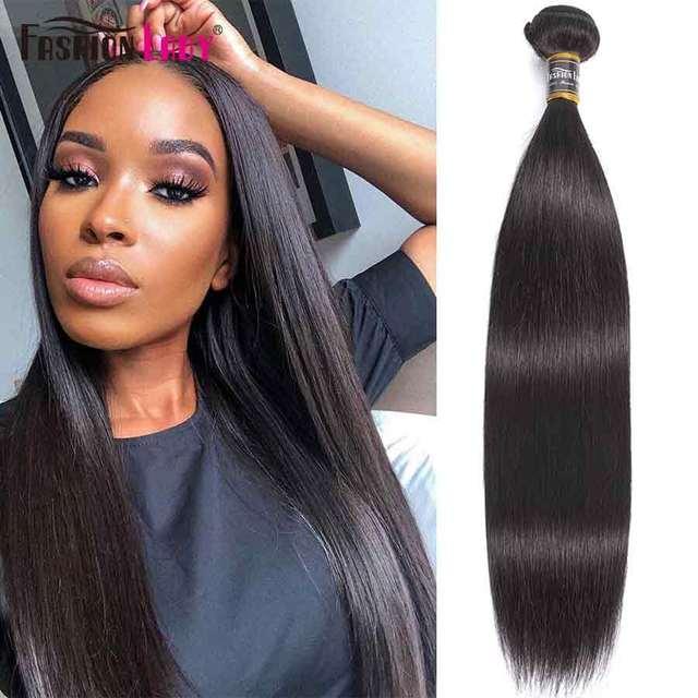 Fashion Lady Pre colored Peruvian Straight Bundles Hair Extensions Human Hair Bundles 1 Piece Per Pack Non Remy