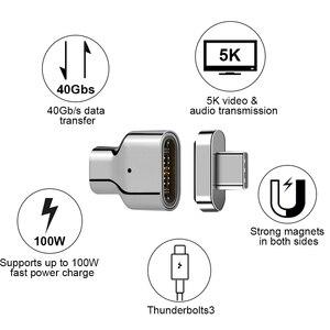 Image 2 - USB C محول مغناطيسي 24 دبوس إلى USB C 3.1 محول داعم محول 100 واط PD ، 40Gbp/s البيانات ، فيديو 5K لمزيد من جهاز Type C