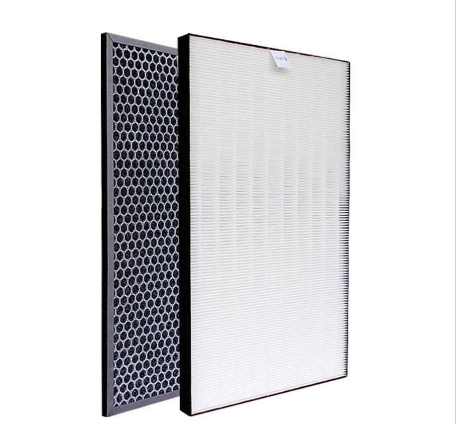 Filtro heap para o purificador de ar afiado KC D50 W, KC E50, KC F50, KC D40E heap filtro 40*22*2.8 cm/carvão ativado filtro 40*22*0.8cmPeças de purificador de ar   -
