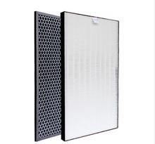 Heap Filter Voor Sharp Luchtreiniger KC D50 W, KC E50, KC F50, KC D40E Heap Filter 40*22*2.8 cm/Actived Carbon Filter 40*22*0.8cm