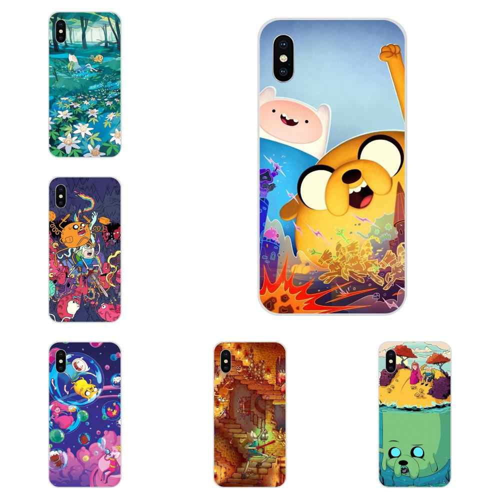 TPU di Lusso Per LG K50 Q6 Q7 Q8 Q60 X Power 2 3 Nexus 5 5X V10 V20 V30 V40 Q Stilo Non-skid Adventure Time Con Finn Jake