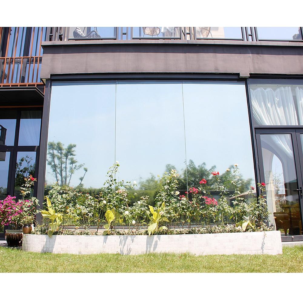 50x300cm Sunice Silver Window Film One Way Mirrored Solar Tint Reflective Glass Sticker Anti-UV Heat Control Home Office Decor