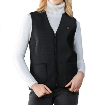 Intelligent USB Heating Jacket Electric Heating Vest Warm Outdoor Vest Electric Thermal Clothing Waistcoat For Hiking Fishing