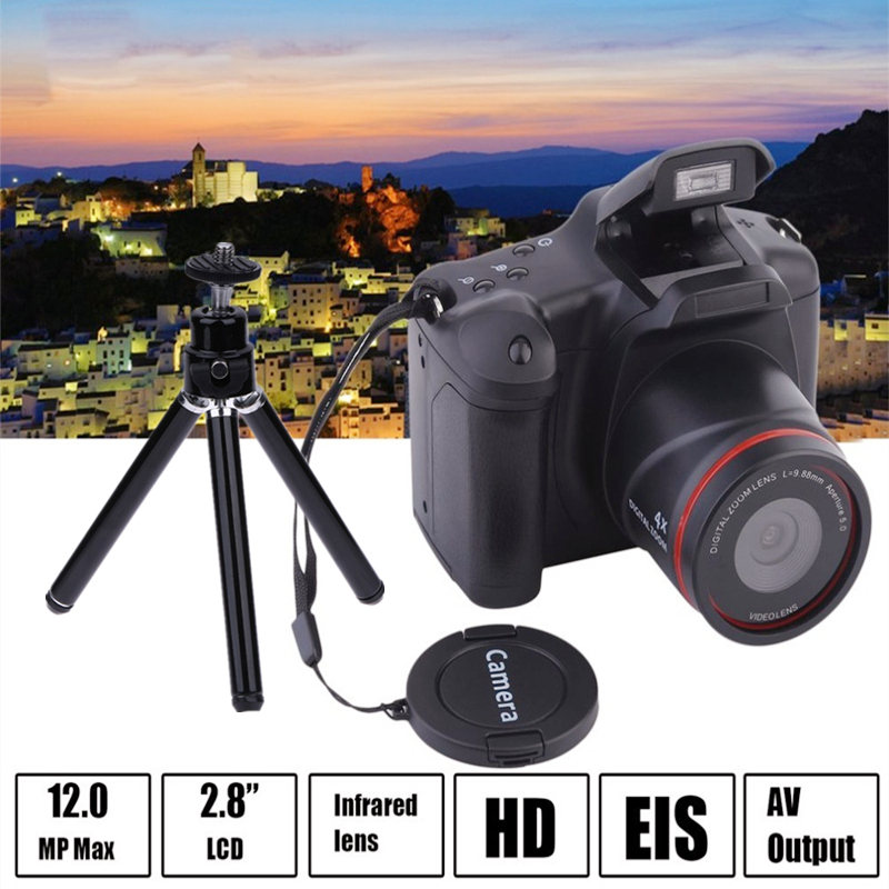Зеркальными камерами 2,4 дюймов TFT ЖК-дисплей Экран домашний маленький SLR цифровой Камера веб-камеры 16X зум USB 2,0 телефото AV Интерфейс цифровой ...